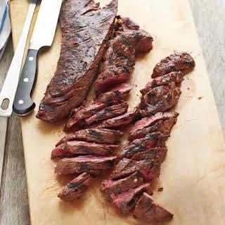 Grilled Marinated Hanger Steak.