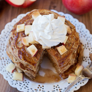 Apple Pie Pancakes with Spiced Maple Syrup