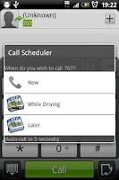 Screenshot of Call Scheduler