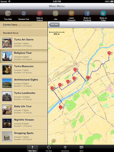 【免費旅遊App】Turku Map and Walks-APP點子