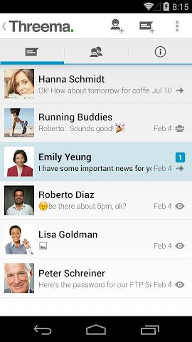 android Threema Screenshot 2