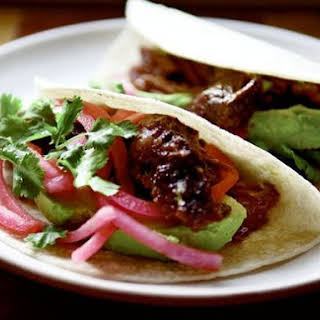 Barbacoa Beef Cheek Tacos.