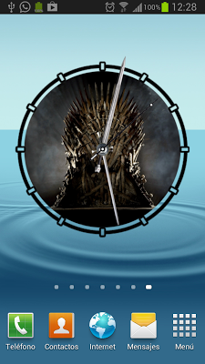 Game of Thrones Animated Clock - screenshot