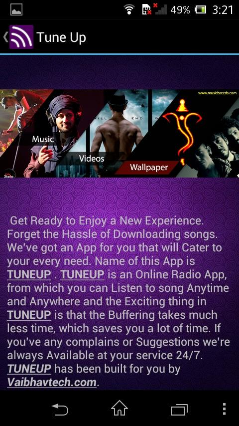 TuneUp Online Internet Radio - screenshot