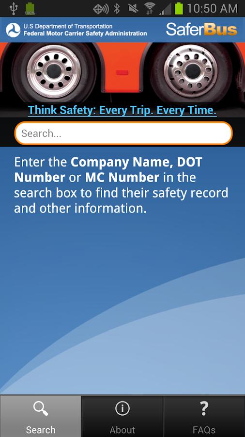 SaferBus - screenshot