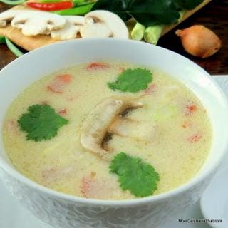 Easy Tom Kha Gai | Thai Chicken Coconut Soup.
