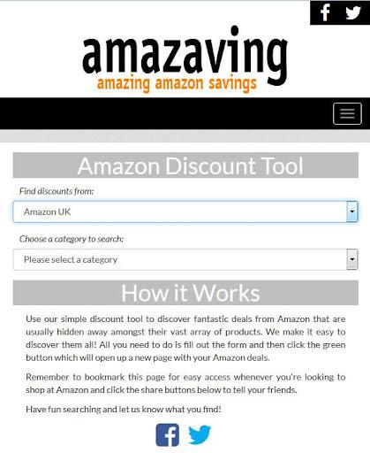 Amazaving: Amazon Deal Finder
