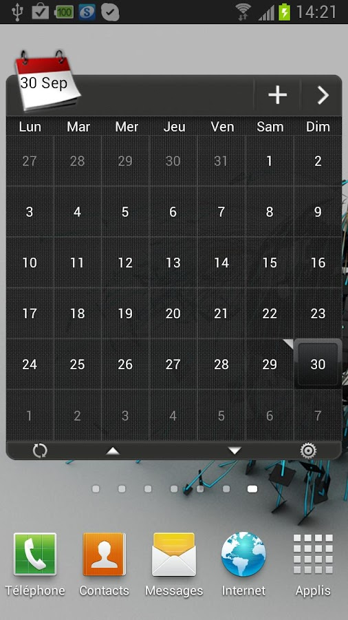 APW HTC Sense 4.0 Dark Theme - screenshot