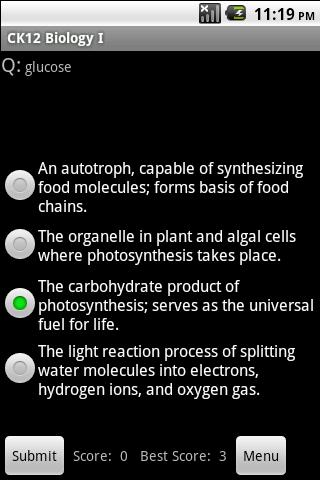 High School Biology Study Aid - screenshot