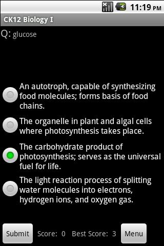 High School Biology Study Aid - screenshot