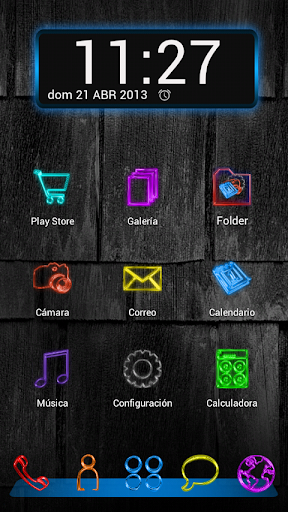 Next Launcher Theme GlowColors
