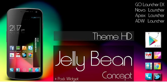 Jelly Bean  Theme Go launcher