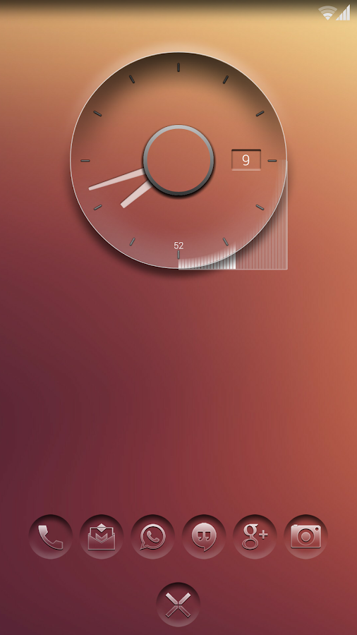 K-clock - analog clock zooper - screenshot