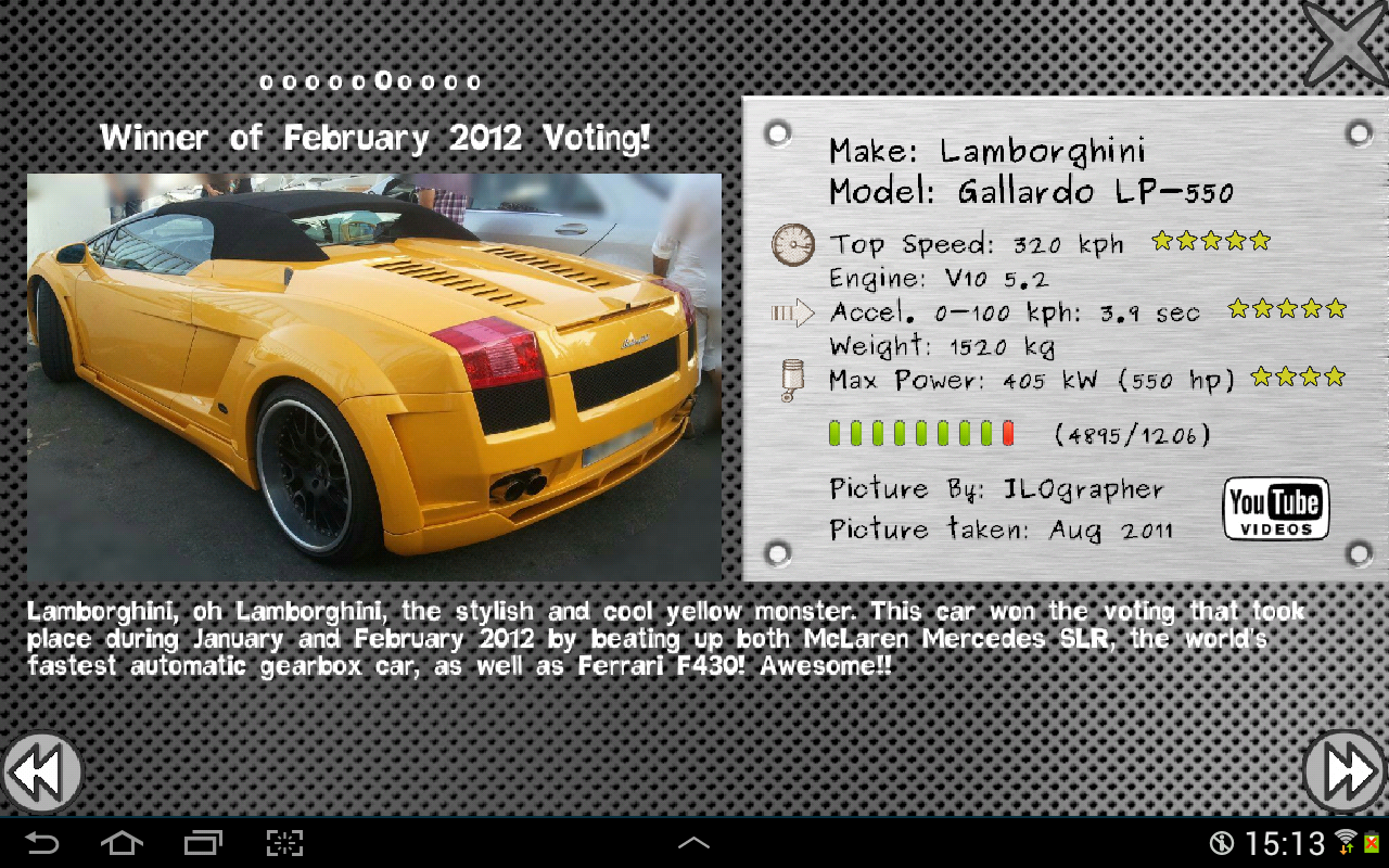 Cool Cars - Vote It! - screenshot