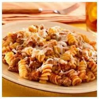 Skillet Pasta and Beef Dinner.