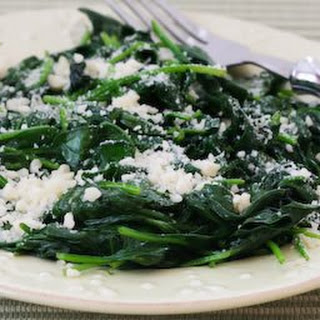 Stir-Fried Spinach with Garlic and Parmesan.