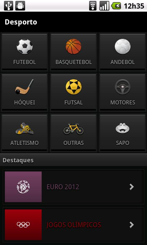 SAPO Desporto - screenshot