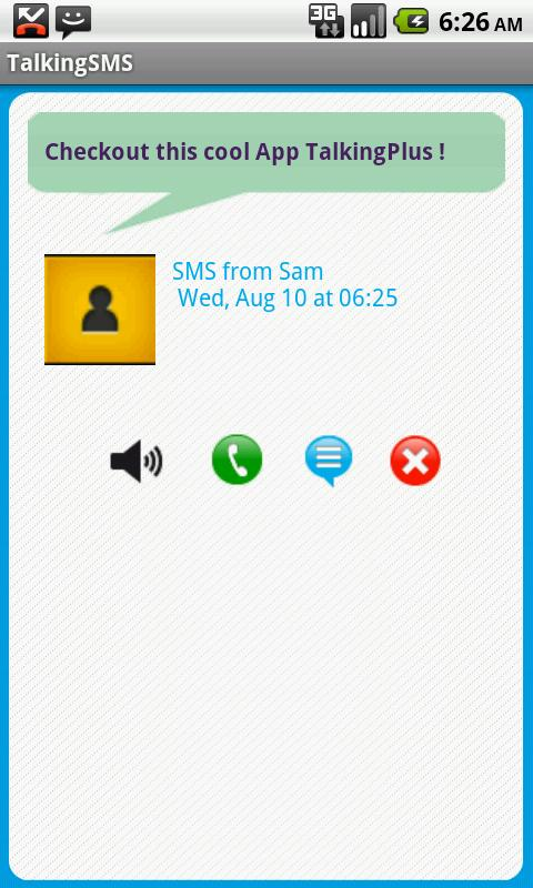 Talking Caller ID & SMS- screenshot