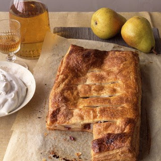 Pear and Sour Cherry Flat Pie