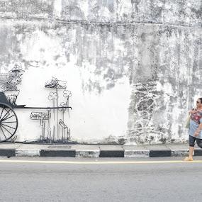 Cannon Street by Karyn Leong - City,  Street & Park  Street Scenes