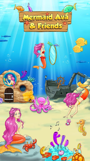 Mermaid Ava Friends - No Ads