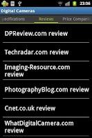 Screenshot of Digital Cameras