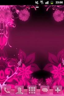 GO Launcher Theme Pink Flowers- screenshot thumbnail