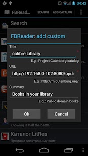 FBReader: Calibre connection- screenshot thumbnail