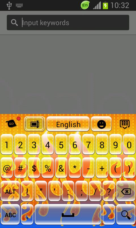 Digital Fire Keyboard - screenshot