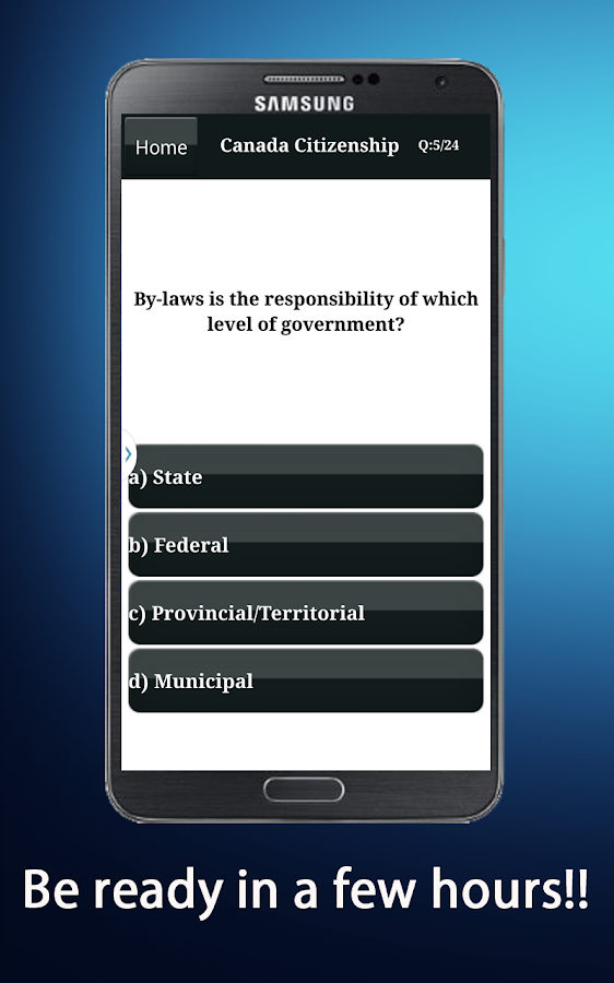 Canadian Citizenship Test 2016 - Android Apps on Google Play: https://play.google.com/store/apps/details?id=com.northpole.world...