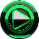 Poweramp skin Black Green icon