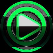 Poweramp skin Black Green