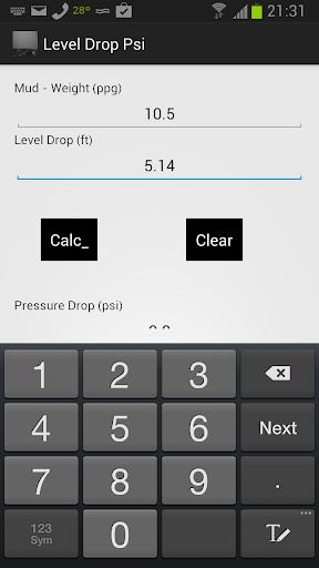 Level Drop in PSI
