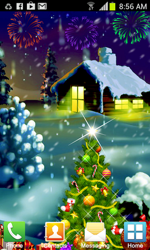 【免費個人化App】Christmas Snow Live Wallpaper-APP點子