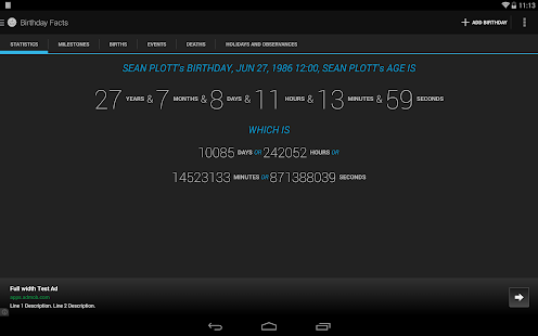 Age Calculator Birthday Facts- screenshot thumbnail