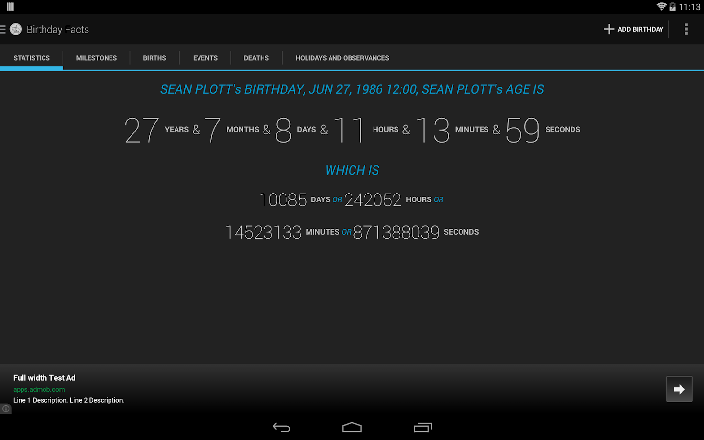 Age Calculator Birthday Facts- screenshot