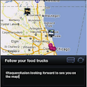 Food Trucks – Map and Twitter logo