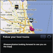Food Trucks - Map and Twitter