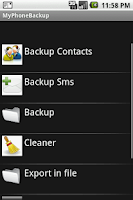 Screenshot of MyPhoneBackup