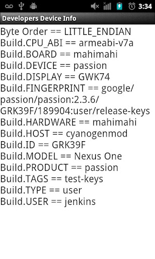 Developers Device Info