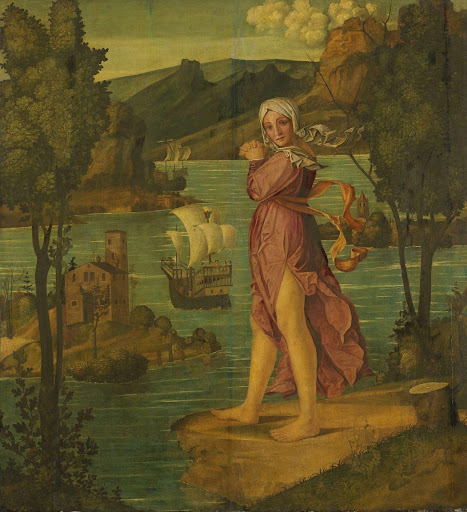 Woman Standing at Water's Edge