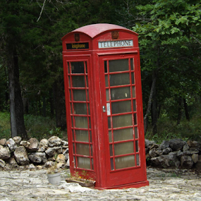 by Wesley Nesbitt - Artistic Objects Antiques ( old, unique, british, phonebooth, antique )