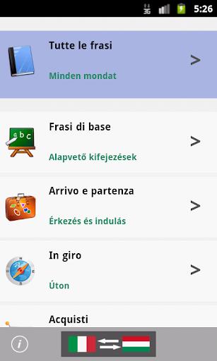 Italian Hungarian Phrasebook