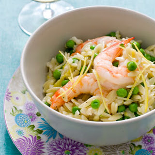 Orzo with Shrimp and Tiny Peas