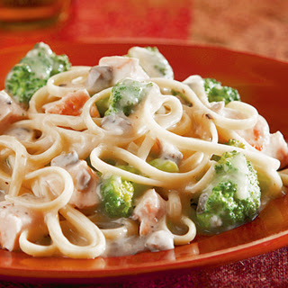 Chicken & Broccoli Alfredo.