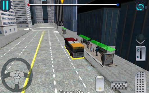 3D市街地走行 - バス駐車場|玩賽車遊戲App免費|玩APPs