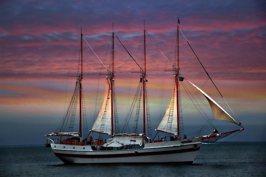 sailing in by Jon Radtke - Transportation Boats ( sailing in,  )