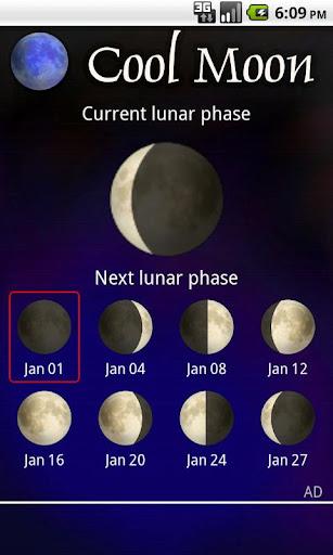 Cool Moon - lunar calendar