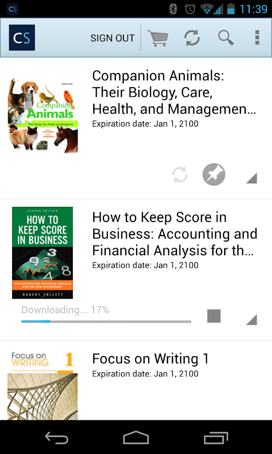 CourseSmart eTextbooks - screenshot