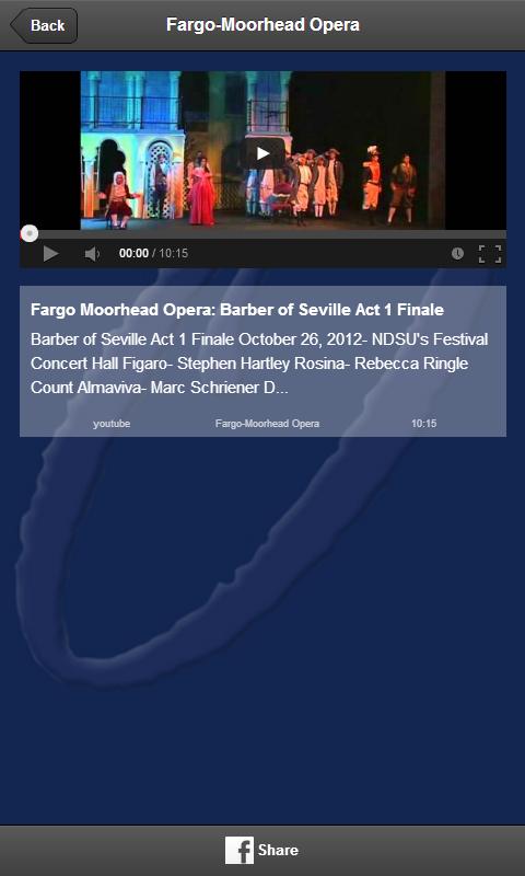 Fargo-Moorhead Opera - screenshot